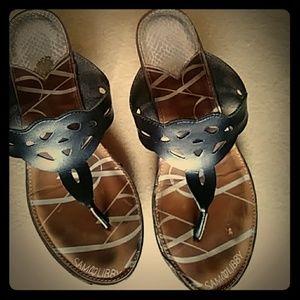 Sam & Libby wedge thong sandals-sz 9 1/2